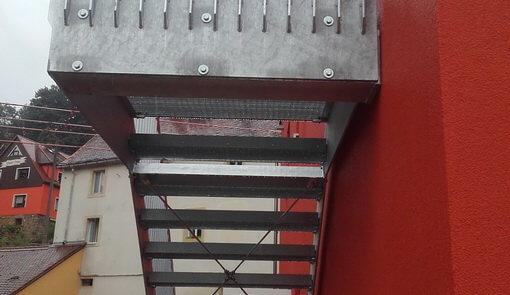 Fluchttreppe Feuerwehrgerätehaus