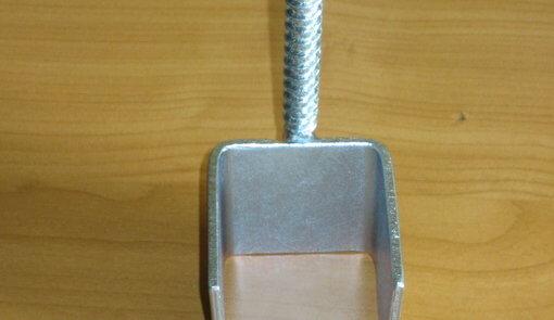 50 + 60 mm Zaunsriegelhalter zum Anschrauben verzinkt