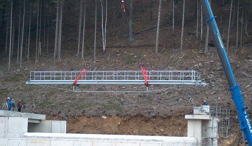 Vorsperre Klingenberg – Montage Bediensteg Einlaufbauwerk