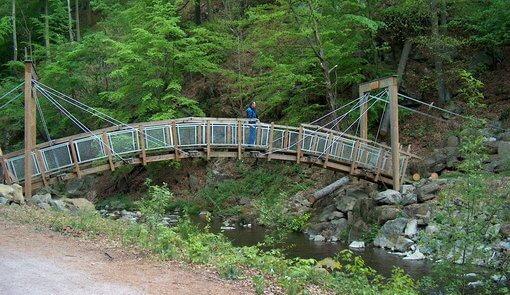 Brücke im Rabenauer Grund Edelstahl-Verbindungs- und Einbauteile