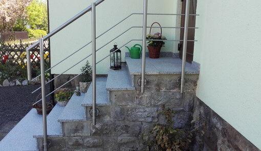 Geländer Eingangstreppe Edelstahl