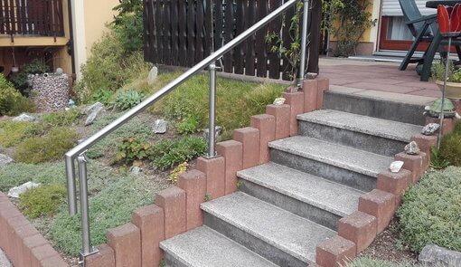 Geländer Terrasse Edelstahl