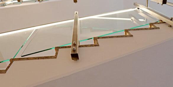 Edelstahl-Geländer mit indirekter Beleuchtung