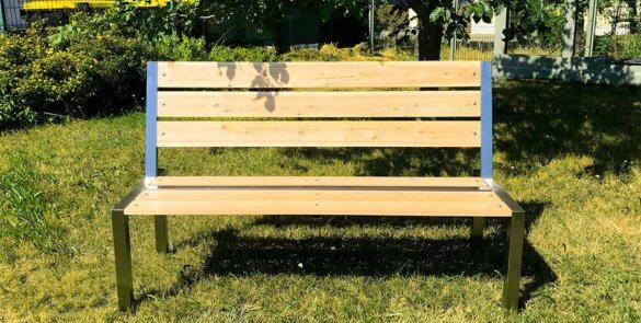 Bank Metall + Holz